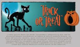 Vector o fundo de Halloween Imagem de Stock