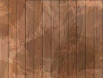 Vector o fundo de madeira do Grunge, textura de madeira, luz - cor marrom ilustração royalty free