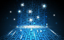 Vector o fundo digital abstrato do conceito da tecnologia do teste padrão do retângulo Imagens de Stock