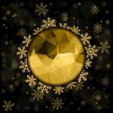Vector o fundo 2016 do cartão do Feliz Natal e do ano novo feliz para a Web e app móvel, ilustração da arte Imagem de Stock Royalty Free