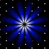 Vector o fundo do Natal com as árvores de giro nas máscaras do azul e dos flocos de neve Imagens de Stock