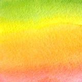 Vector o fundo do verde, da laranja, o amarelo e o cor-de-rosa da aquarela do inclinação Fotografia de Stock Royalty Free
