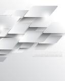 Vector o fundo geométrico de sobreposição metálico elegante da empresa dos elementos Imagens de Stock