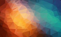 Vector o fundo geométrico poligonal moderno abstrato do triângulo do polígono Fundo geométrico colorido do triângulo ilustração stock