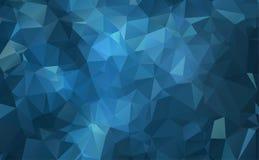 Vector o fundo geométrico poligonal moderno abstrato do triângulo do polígono Escuro - fundo geométrico azul do triângulo ilustração do vetor