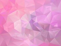 Vector o fundo irregular do polígono com um teste padrão do triângulo no rosa de bebê pastel e na cor da violeta Fotografia de Stock Royalty Free