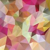 Vector o fundo irregular do polígono com um teste padrão triangular em cores completas pasteis do espectro ilustração stock
