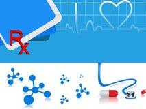 Vector o fundo médico de batida de coração ilustração royalty free