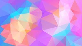 Vector o fundo poligonal irregular - baixo teste padrão poli do triângulo - espectro de cor completa bonito holográfico do arco-í ilustração stock