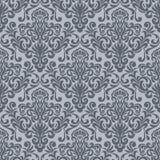 Vector o fundo sem emenda do teste padrão do damasco Ornamento antiquado luxuoso clássico do damasco, victorian real sem emenda ilustração stock