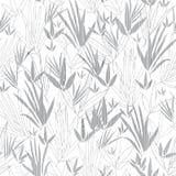 Vector o fundo sem emenda do teste padrão do quimono de bambu de prata de Grey Asian Grande para a tela cinzenta elegante da text ilustração royalty free