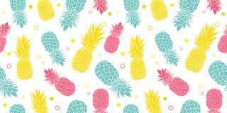 Vector o fundo sem emenda tropical do teste padrão do verão colorido dos abacaxis Grande como uma cópia de matéria têxtil, convit ilustração royalty free