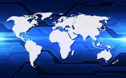 Vector o globo no fundo da tecnologia digital, ilustra??o abstrata ilustração do vetor