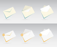 Vector o grupo de envelopes com letras Foto de Stock Royalty Free