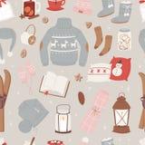 Vector o grupo morno da roupa do inverno de chapéu, lenço, camiseta, inverno da roupa do projeto da camiseta do estilo da roupa d ilustração do vetor
