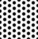 Vector o hexágono sem emenda moderno do teste padrão da geometria, preto e branco Foto de Stock