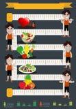 Vector o homem da aptidão e faça dieta o projeto de gráficos da informação Foto de Stock Royalty Free