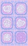 Vector o jogo das flores com o geometri três abstrato Fotos de Stock