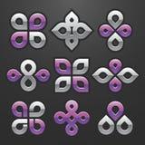 Vector o jogo de símbolo abstrato Imagens de Stock