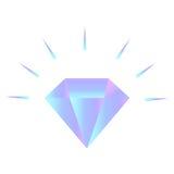 Vector o logotipo de brilho do diamante do inclinação no fundo branco Fotos de Stock