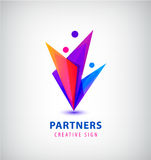 Vector o logotipo do grupo dos homens, ser humano, família, ícone dos trabalhos de equipa A comunidade, sinal dos povos ilustração stock