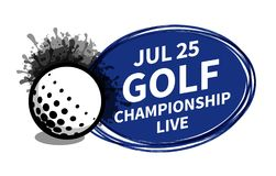 Vector o lugar do fundo do projetor do placar do esporte do golfe para o anúncio do texto da cópia Bandeira, inseto, cartaz, gara ilustração stock