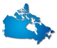Vector o mapa Canadá Fotografia de Stock Royalty Free