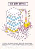 Vector o molde com ilustração do servidor, da ampulheta e de três Fotos de Stock