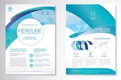 Vector o molde da disposição de projeto do inseto do folheto, o tamanho A4, a primeira página e a página traseira, infographics F ilustração do vetor