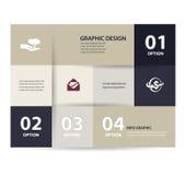 Vector o molde de papel do projeto das linhas e dos números do vintage Imagens de Stock