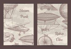 Vector o molde do cartão, do inseto ou do folheto para o steampunk ilustração stock