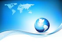 Vector o molde do projeto com globo e mapa da terra Fotos de Stock