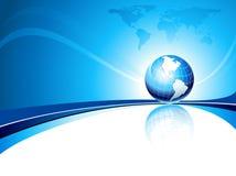 Vector o molde do projeto com globo e mapa da terra Imagem de Stock