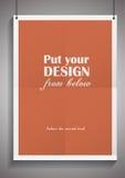 Vector o molde do quadro com cartaz, colocado dentro Imagem de Stock