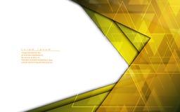 Vector o molde dourado do projeto moderno do quadro do fundo abstrato ilustração royalty free