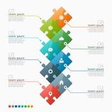 Vector o molde infographic de 8 opções com seções do enigma Imagens de Stock Royalty Free