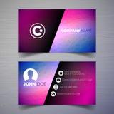 Vector o molde moderno do projeto de cartão com backgound abstrato Ilustração da identidade corporativa com logotipo simples Imagem de Stock