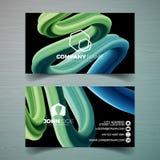 Vector o molde moderno do projeto de cartão com backgound abstrato Ilustração da identidade corporativa com logotipo simples Imagens de Stock