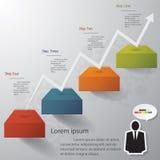 Vector o molde para uma disposição passo a passo/gráfico ou do Web site Imagens de Stock