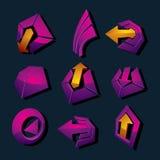 Vector o negócio dimensional e o collec incorporado dos símbolos gráficos ilustração royalty free