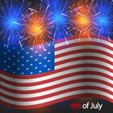 Vector o 4o do fundo de julho. Dia da Independência Imagem de Stock Royalty Free