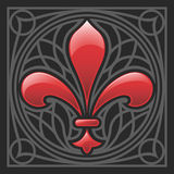 Vector o ornamento do lírio Foto de Stock Royalty Free