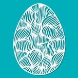 Vector o ovo da páscoa laçado do estêncil com teste padrão ondulado a céu aberto cinzelado ilustração stock