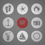 Vector o poster do verão feito dos ícones Fotografia de Stock