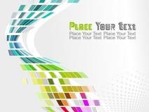 Vector o projeto colorido do teste padrão de mosaico Imagens de Stock Royalty Free