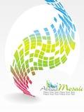 Vector o projeto colorido do teste padrão de mosaico fotos de stock