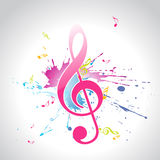 Vector o projeto da música Imagem de Stock