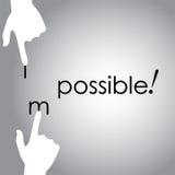 Vector o projeto da transformação impossível a possível à mão Imagem de Stock