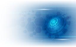 Vector o projeto de conceito abstrato do teste padrão da inovação da tecnologia do fundo Fotos de Stock