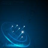 Vector o projeto de conceito da inovação da tecnologia digital do fundo do teste padrão do banwidth da rede Fotografia de Stock Royalty Free